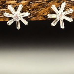 Snowflake Rhinestone Earrings!